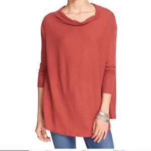 Free People Lover Rib Split Back Pullover Size M